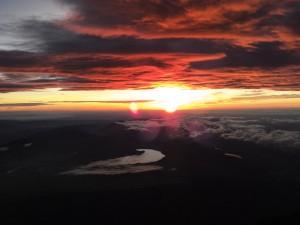 富士山ご来光4